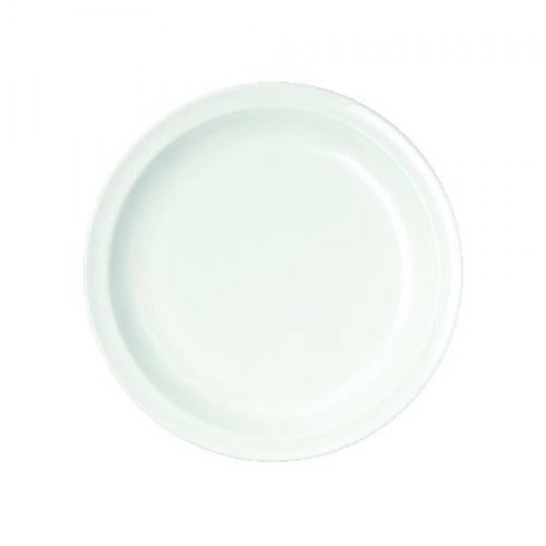 Teller flach, Ø = 24 cm, Melamin, weiß