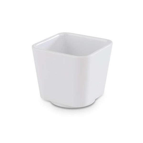 Schale quadratisch, Länge: 6,5 cm, Universal, weiß