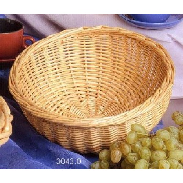 Tisch- und Buffetkorb rund, Ø = 23 cm, Weide natur