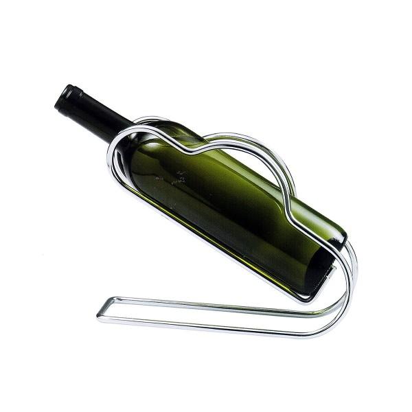 Dekantierständer / Weinflaschenhalter, verchromt hochglänzend