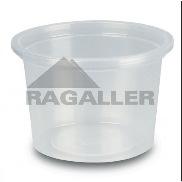 Verpackungsbecher rund, klar, Inhalt: 0,1 l