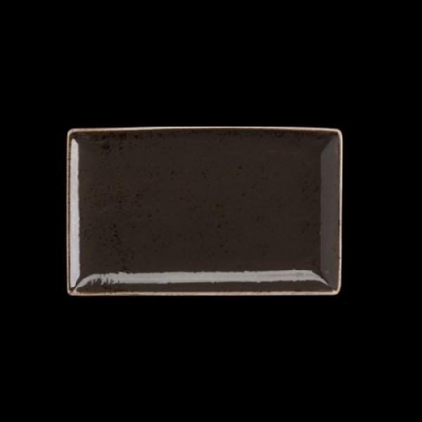 Platte rechteckig, Länge: 27 cm, Craft, grau
