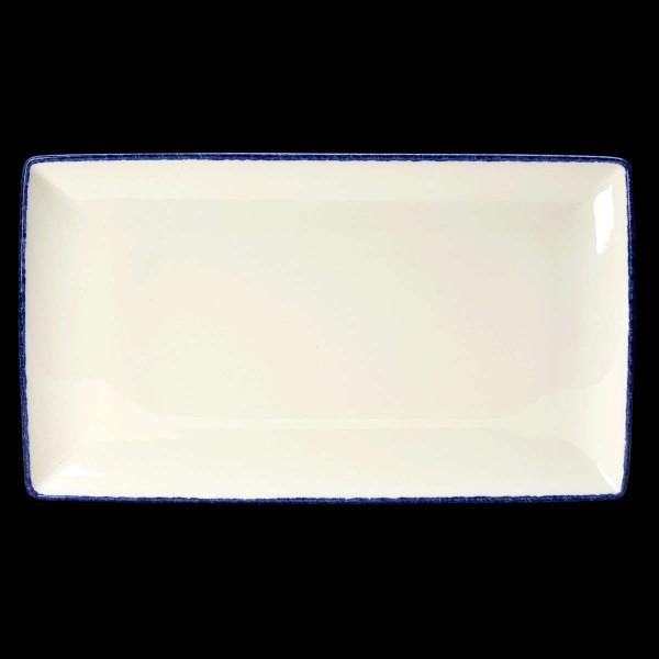 Platte rechteckig, Länge: 33 cm, Blue Dapple