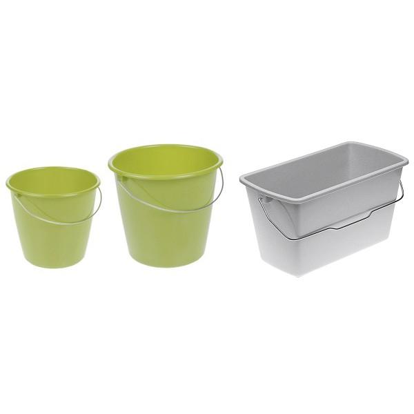 Kunststoffeimer, Inhalt: 5,0 l, grün