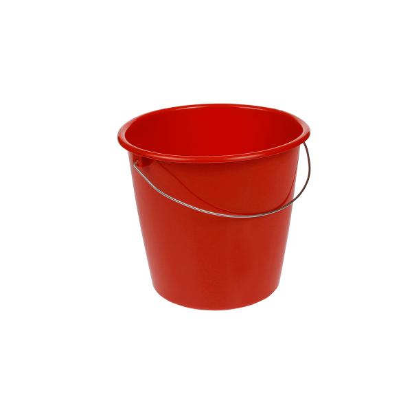 Kunststoffeimer, Inhalt: 10,0 l, rot
