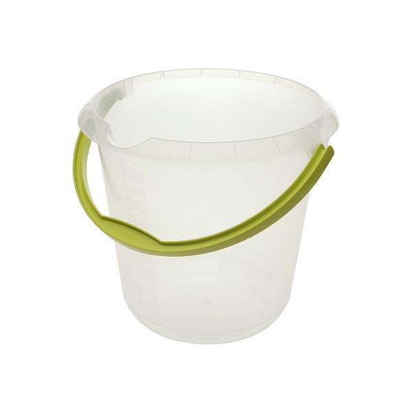 Kunststoffeimer Mika, Inhalt: 10,0 l, transparent/grün