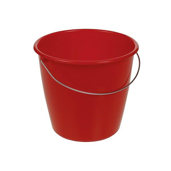 Kunststoffeiemer, Inhalt: 5,0 l, rot