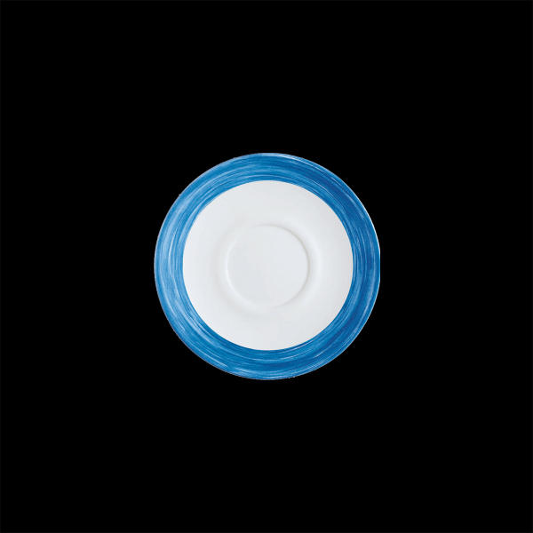 Kaffee-Untere, Ø = 14 cm, Brush Blue Jean