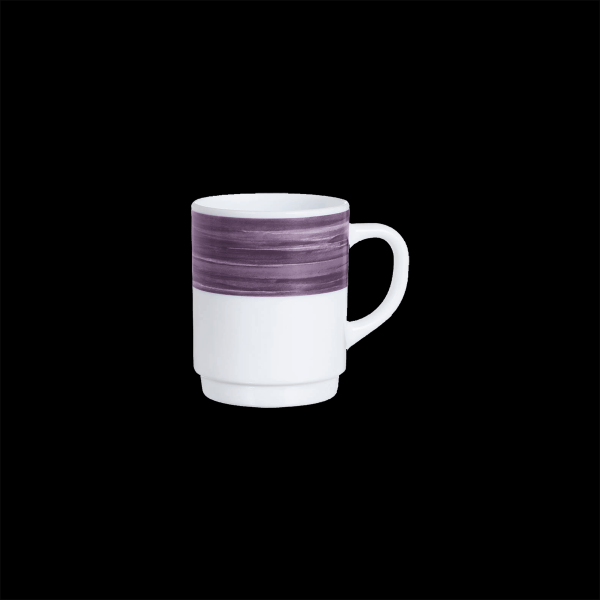 Kaffeebecher, Inhalt: 0,25 l, Brush Purple