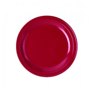 Teller flach, Ø = 24 cm, Melamin, rot