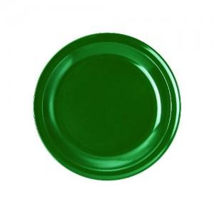 Teller flach, Ø = 24 cm, Melamin, grün