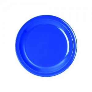 Teller flach, Ø = 24 cm, Melamin, blau