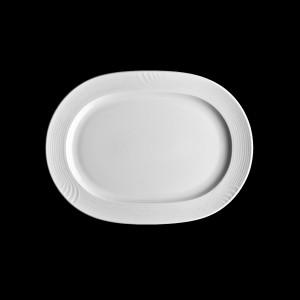 Platte oval mit Fahne, Länge: 29 cm, Carat