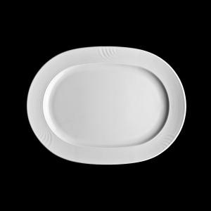Platte oval mit Fahne, Länge: 32 cm, Carat