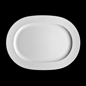 Platte oval mit Fahne, Länge: 36 cm, Carat