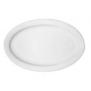 Platte oval mit Fahne, Länge: 36 cm, Dimension