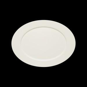 Platte oval mit Fahne, Länge: 38 cm, Purity