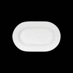 Platte oval mit Fahne, Länge: 33 cm, Connect
