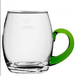 Weinseidel mit grünem Henkel, Inhalt: 250 ml, /-/ 0,25 l