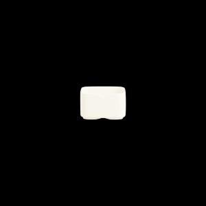 Schale rechteckig, Länge: 7,3 cm, Mekkano Cream