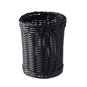 Besteckbehälter, Economic, Ø = 120 mm, schwarz
