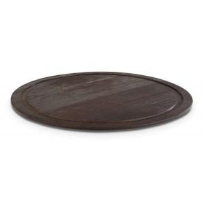Platte rund, Ø = 38,5 cm, Wood, Eiche dunkel