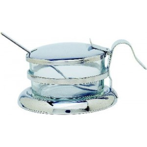 Parmesan-/Marmeladendose mit Glaseinsatz