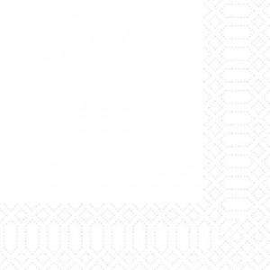 Serviette, Zelltuch, weiß, 33 x 33 cm