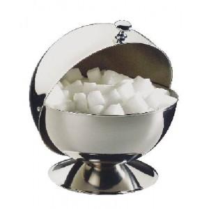 Zuckerdose rund, mit Rolldeckel