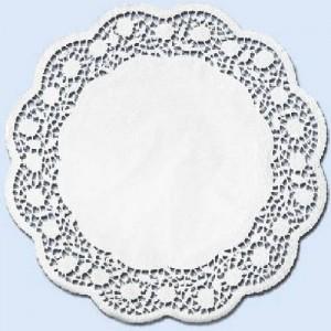 Tortenspitze rund, Motiv: Rose, Ø = 33 cm