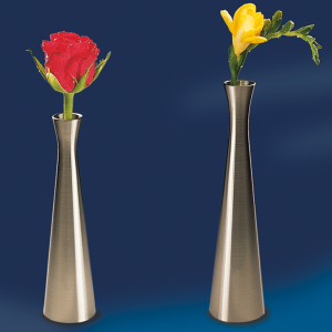 Vase, Edelstahl-Look, Höhe: 16,5 cm