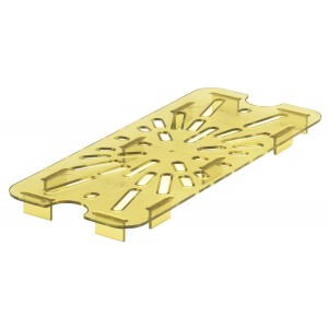 GN-Abtropfplatte zu 1/3, Cambro, Kunststoff, bernstein