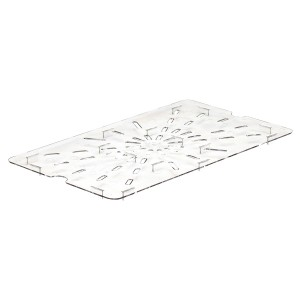 GN-Abtropfplatte zu 1/1, Cambro, Polycarbonat, transparent