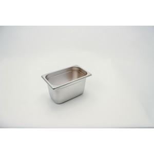 GN-Behälter 1/4-150, Rieber, Edelstahl, ohne Griffe