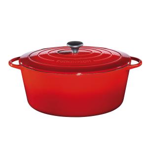 Bratentopf oval, Ø = 33 cm, Provence, rot