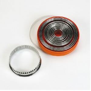 Ausstecher-Set rund gezackt 9-tlg., Ø = 3 – 11 cm