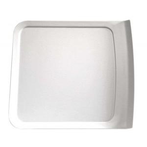 Platte rechteckig 280 x 250 x 24 mm, Cascade, weiß