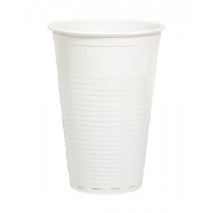 Trinkbecher, Inhalt: 0,2 l, weiß