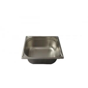 GN-Behälter 1/2-150, Blanco, Edelstahl, ohne Griffe