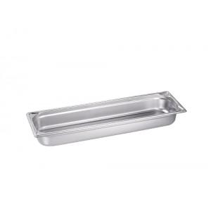 GN-Behälter 2/4-65, Blanco, Edelstahl, ohne Griffe