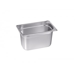 GN-Behälter 1/4-150, Blanco, Edelstahl, ohne Griffe