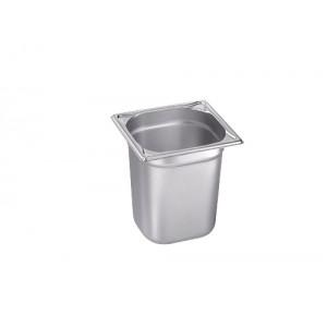 GN-Behälter 1/6-200, Blanco, Edelstahl, ohne Griffe