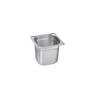 GN-Behälter 1/6-150, Blanco, Edelstahl, ohne Griffe