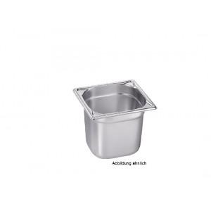 GN-Behälter 1/6-65, Blanco, Edelstahl, ohne Griffe