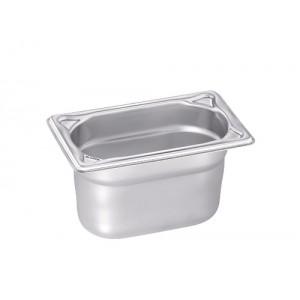 GN-Behälter 1/9-100, Blanco, Edelstahl, ohne Griffe