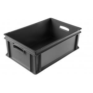 Stapelbehälter grau, Inhalt: 43 Liter