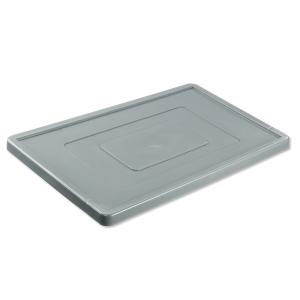 Stülpdeckel grau, Länge: 600 mm
