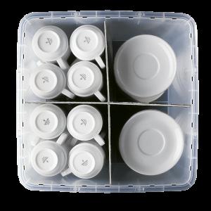 Facheinteiler-Unterteil zu Transport- und Lagerbehälter