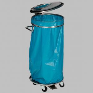 Müllsackständer fahrbar mit 5 Lenkrollen und Fußpedal