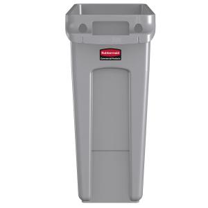 Abfallbehälter Slim Jim mit Griffen, 60 Liter, grau